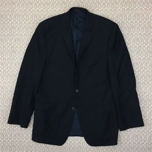 Calvin Klein Men Slim Fit Black Blazer SZ 40R D76